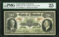Canadian Currency, Montreal, PQ- Bank of Montreal $20 2.1.1931 Ch.# 505-58-06 PMG Very Fine 25.. ...