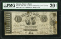 Canadian Currency, La Prairie, LC- Henry's Bank $10 27.6.1837 Ch.# 357-14-04 PMG Very Fine 20 Net.. ...