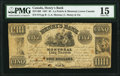 Canadian Currency, La Prairie, LC- Henry's Bank $5 27.6.1837 Ch.# 357-14-02 PMG Choice Fine 15.. ...