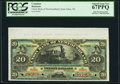 Canadian Currency, St. John's, NF- Union Bank of Newfoundland $20 1.5.1889 Ch.#750-16-08s Specimen PCGS Superb Gem New 67PPQ.