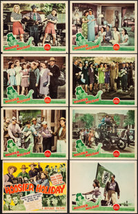 "Hoosier Holiday (Republic, 1943). Overall: Fine/Very Fine. Lobby Card Set of 8 (11"" X 14""). Musical. ... (Tota..."