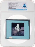 Explorers:Space Exploration, Apollo 11 Original NASA Glass Film Slide, an Image of Buzz Aldrin Carrying the EASEP Package, Directly From The Armstrong ...