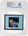 Explorers:Space Exploration, Apollo 11 Original NASA Glass Film Slide, an Image of the Lunar Module Docking Target, Directly From The Armstrong Family ...