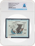 Explorers:Space Exploration, Apollo Original NASA Glass Projector Slide, a Lunar Boot Diagram, Directly From The Armstrong Family Collection™, CAG Certifie...