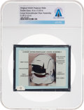 Explorers:Space Exploration, Apollo Original NASA Glass Projector Slide, a Lunar Extravehicular Visor Assembly Diagram, Directly From The Armstrong Family ...