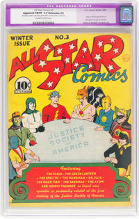 All Star Comics #3 (DC, 1940) CGC Apparent FN/VF 7.0 Extensive (P) Off-white to white pages