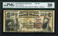 National Bank Notes:Pennsylvania, Clearfield, PA - $100 1882 Brown Back Fr. 520 The County NB Ch. # 855 PMG Very Fine 30.. ...