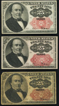 Fractional Currency:Fifth Issue, Fr. 1308 25¢ Fifth Issue About New;. Fr. 1309 25¢ Fifth Issue VF;.Fr. 1309 25¢ Fifth Issue VG.. ... (Total: 3 notes)