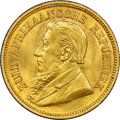 """South Africa, South Africa: Republic gold """"Single Shaft"""" 1/2 Pond 1895 MS64 NGC,..."""