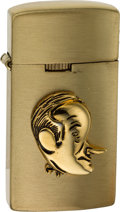 Explorers:Space Exploration, Neil Armstrong: Bob Hope Caricature Nesor Petite Cigarette Lighter From The Armstrong Family Collection™. CAG Certified....