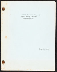 """Three Hours to Kill (Columbia, 1954). Fine/Very Fine. Early Draft Script (118 Pages, 8.5"""" X 11"""") Draft Title:..."""