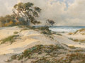 Paintings:Modern  (1900 1949), Percy Gray (American, 1869-1952). Sun-Kissed Sand Dunes, probably Monterey. Watercolor on paper. 12 x 16 inches (30.5 x ...