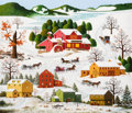 Fine Art - Painting, American, Charles Wysocki (American, 1900-1999). Connecticut TownShoppers. Oil on canvas. 26 x 30 inches (66.0 x 76.2 cm).Signed...