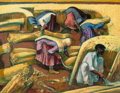 Fine Art - Painting, American, Millard Sheets (American, 1907-1989). Wheat Gatherers,India, 1978. Oil on canvas. 30-1/4 x 38-1/4 inches (76.8 x 97.2c...