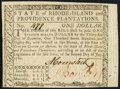Colonial Notes:Rhode Island, Fully Signed Rhode Island July 2, 1780 $1 Choice About New.. ...