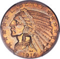 Indian Half Eagles, 1914-S $5 MS62 PCGS....