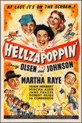 """Movie Posters:Comedy, Hellzapoppin' (Universal, 1941). Folded, Very Fine-. One Sheet (27"""" X 41"""") Style C. Comedy.. ..."""