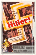 "Movie Posters:Drama, Hitler (Allied Artists, 1962). Folded, Very Good. One Sheet (27"" X 41""). Drama.. ..."