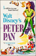 """Movie Posters:Animation, Peter Pan & Other Lot (Buena Vista, R-1958). Folded, Fine+. One Sheets (2) (27"""" X 41""""). Animation.. ... (Total: 2 Items)"""