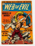 Golden Age (1938-1955):Horror, Web of Evil #3 (Quality, 1953) Condition: GD....