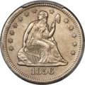 1856-S/S 25C Large Over Small S, Briggs 4-E, FS-501 -- Surfaces Smoothed -- PCGS Genuine. AU Details....(PCGS# 395935)