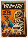 Golden Age (1938-1955):Horror, Web of Evil #5 (Quality, 1953) Condition: GD....