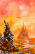 Original Comic Art:Illustrations, Kelly Freas (American, 1922-2005). Monitor Found in Orbitpaperback cover, 1974. Acrylic on board. 7...