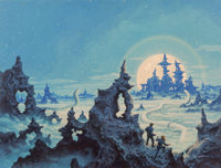 Greg and Tim Hildebrandt Earth's Last Citadel paperback cover, 1977 Acrylic on board 22 x 28-1/2 in. Signed lower ri