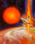 Original Comic Art:Illustrations, Bob Eggleton (American, b. 1960). Hello Out There paperbackcover, 2000. Acrylic on canvasboard. 20 ...