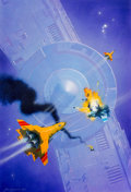 Original Comic Art:Illustrations, John Harris (British, b. 1948). Starwolves: Tactical Errorpaperback cover, 1991. Acrylic on board. ...