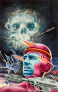 Original Comic Art:Illustrations, Alex Ebel (American, 20th Century). Section G: United Planets paperback cover, 1976. Mixed media on board. 15 x 9-1/2 in...
