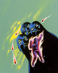 Jack Gaughan (American, 1930-1985) Four for Tomorrow paperback cover, 1967 Acrylic on board 17 x 14 inches Initialed