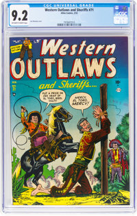 Western Outlaws and Sheriffs #71 (Marvel, 1952) CGC NM- 9.2 Off-white to white pages