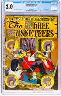 Golden Age (1938-1955):Classics Illustrated, Classic Comics #1 The Three Musketeers - First Edition (Gilberton, 1941) CGC GD 2.0 Cream to off-white pages....