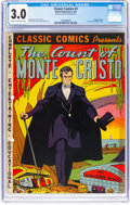 Golden Age (1938-1955):Classics Illustrated, Classic Comics #3 The Count of Monte Cristo - First Edition (Gilberton, 1942) CGC GD/VG 3.0 Cream to off-white pages....