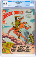 Golden Age (1938-1955):Classics Illustrated, Classic Comics #4 The Last of the Mohicans - First Edition (Gilberton, 1942) CGC GD+ 2.5 Cream to off-white pages....