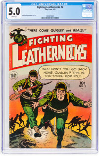 Fighting Leathernecks #2 (Toby Publishing, 1952) CGC VG/FN 5.0 White pages
