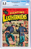 Golden Age (1938-1955):War, Fighting Leathernecks #6 (Toby Publishing, 1952) CGC FN- 5.5 Off-white to white pages....