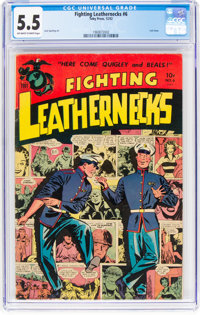 Fighting Leathernecks #6 (Toby Publishing, 1952) CGC FN- 5.5 Off-white to white pages