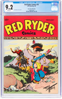 Red Ryder Comics #55 Mile High Pedigree (Dell, 1948) CGC NM- 9.2 White pages