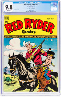 Red Ryder Comics #73 Mile High Pedigree (Dell, 1949) CGC NM/MT 9.8 White pages