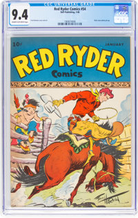 Red Ryder Comics #54 (Dell, 1948) CGC NM 9.4 Cream to off-white pages