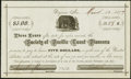 Obsoletes By State:Nevada, Virginia, NV - Society of Pacific Coast Pioneers $5 Mar. 12, 1877 Choice Crisp Uncirculated.. ...