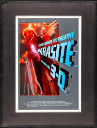 "Parasite (Embassy, 1982). Fine+. Matted Original Concept Mixed Media Artwork (Artwork: 12.5"" X 19"", Matte: 19..."