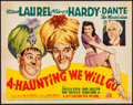 """Movie Posters:Comedy, A-Haunting We Will Go (20th Century Fox, 1942). Fine/Very Fine. Title Lobby Card (11"""" X 14""""). Comedy.. ..."""