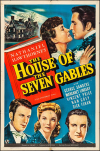 """The House of the Seven Gables (Universal, 1940). Folded, Fine+. One Sheet (27"""" X 41""""). Thriller"""