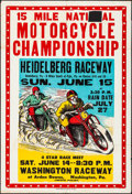 "Movie Posters:Sports, 15 Mile National Motorcycle Championship (1950s). Folded, Fine. Poster (28"" X 41""). Sports.. ..."