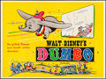"Movie Posters:Animation, Dumbo (Walt Disney Productions, R-1950s). Folded, Very Fine-.British Quad (30"" X 40""). Animation.. ..."