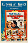 """Movie Posters:Comedy, It Should Happen to You! & Other Lot (Columbia, 1954). Folded,Fine/Very Fine. One Sheets (2) (27"""" X 41""""). Comedy.. ... (Total: 2Items)"""