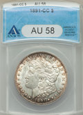 1891-CC $1 AU58 ANACS. NGC Census: (286/4815). PCGS Population: (580/15222). CDN: $310 Whsle. Bid for problem-free NGC/P...